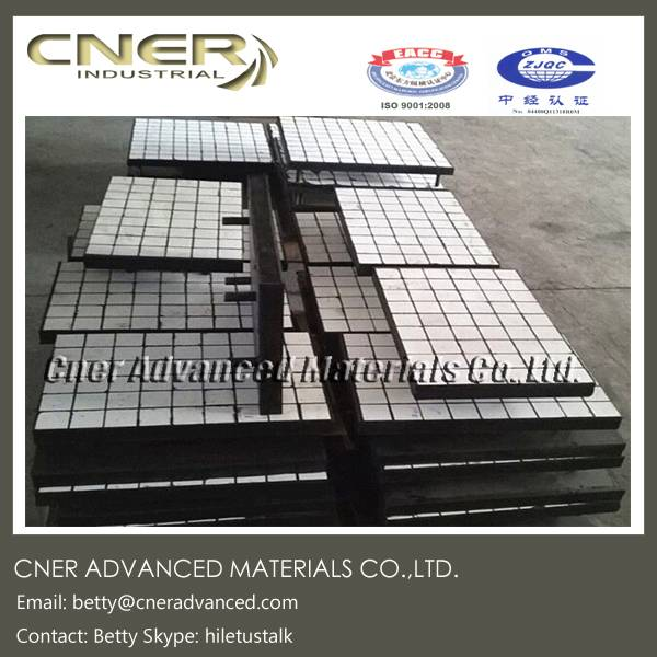 Ceramic rubber liner, wear liner, rubber ceramic plate with steel back