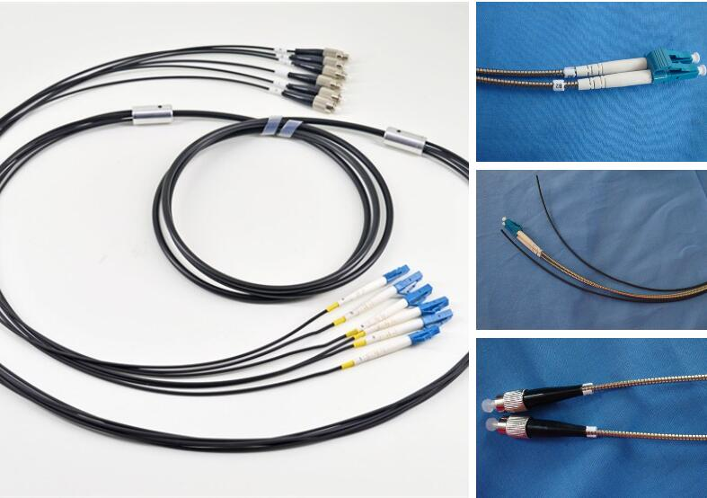 4 6 8 12 Core Single mode G657A1 Multimode Outdoor Armored Fiber Optic Patch Cord