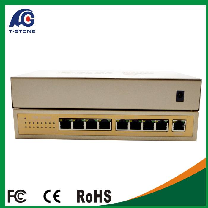 Network switches manufacturer shenzhen 8 Port Fast ethernet poe switch 48v 10/100M