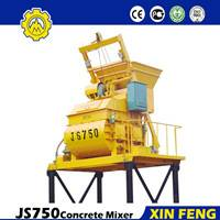 JS750 cement mixer with strong mixing