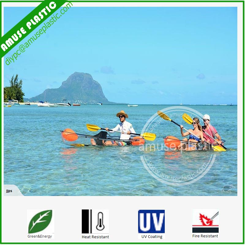Sea Fishing Kayak for Sale Scotland Polycarbonate Clear Canoe Boat