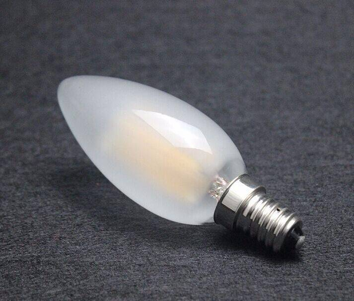 frosted glass candle lamp C35 4 watt led filament bulb