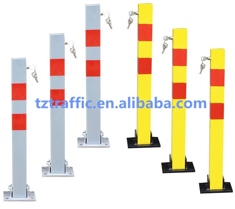 Square Car parking barrier, manual parking barrier, Removable parking barrier
