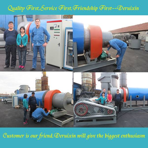 2014 Qingdao Waste Tire Pyrolysis Carbon Black Refining Machine
