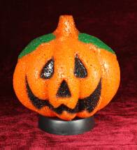 EVA&LED Halloween decorative lights,Pumpkin with Green Leaf Table Lamp