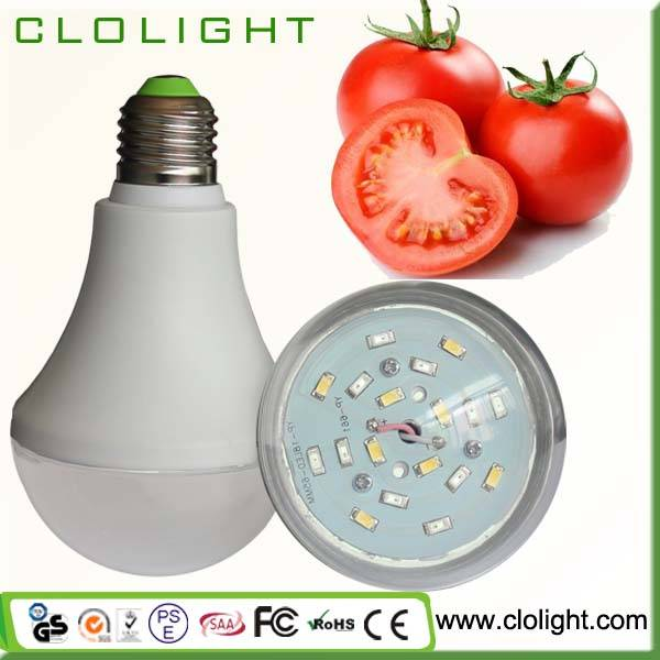 9W led plant grow light for vegetables flowers fruits hydroponics plant growth