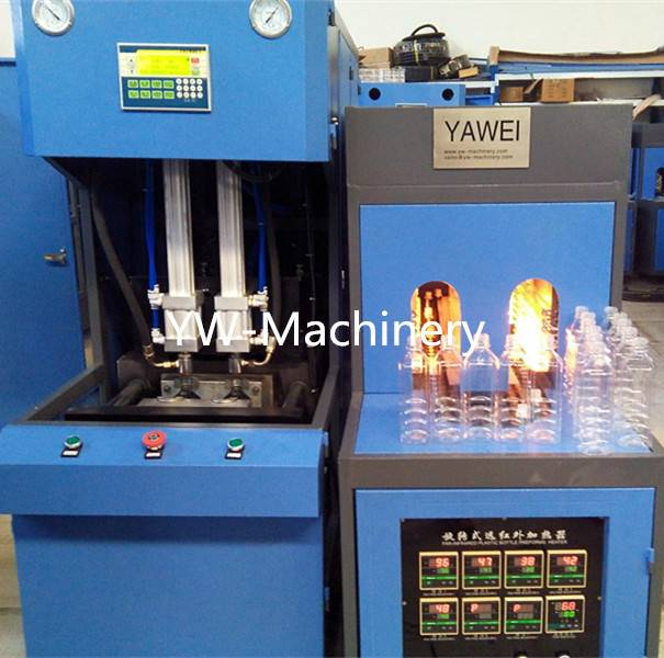 YW-B2000 2 cavity semi automatic blowing machine for 2L water bottles