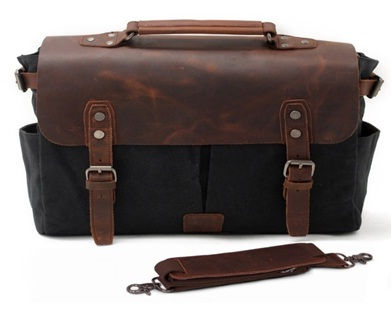 Leather Laptop office collage messenger bags