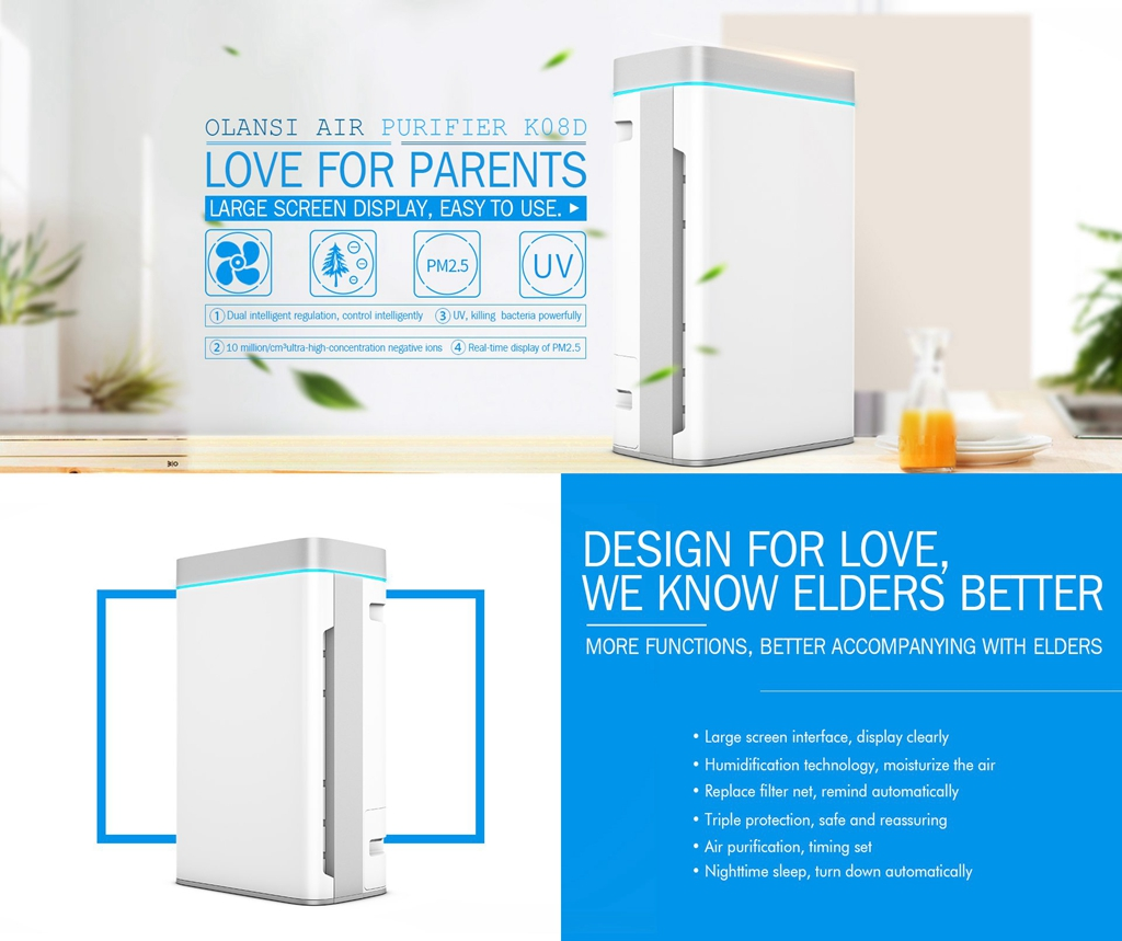 New Design Guangzhou Olansi HEPA Air Purifier for Home Office Indoor Air Cleaning Popular Germany
