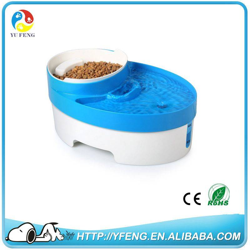 ShenZhen Yufeng 3 in 1 Water Bowl Food Bowl and Food Scoop For Dog Cat Puppy Water Fountain