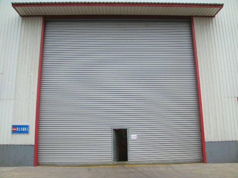 Windproof steel rolling door automatic