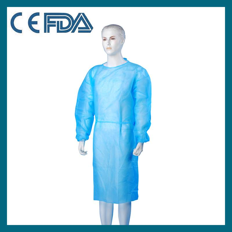 Nonwoven disposable hospital surgical gown
