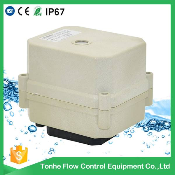 Tonhe 24v dc Electric actuator valve without manual override CR201 A20-T-C