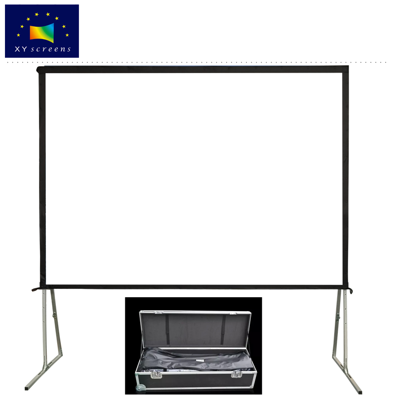 xyscreen 80-180 inch easy folding portable HD projector screen indoor /outdoor