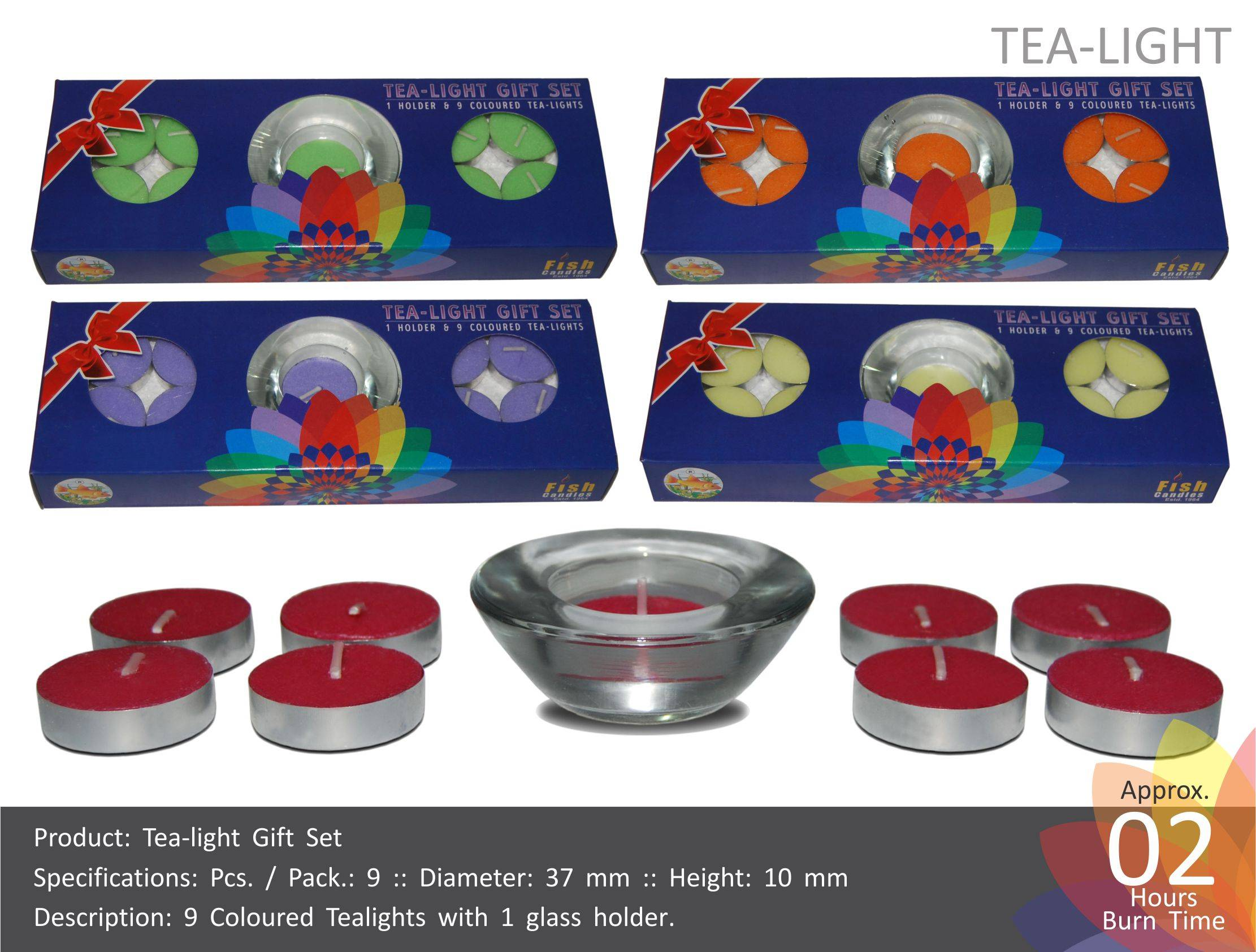 Tea Light Candles Gift Set