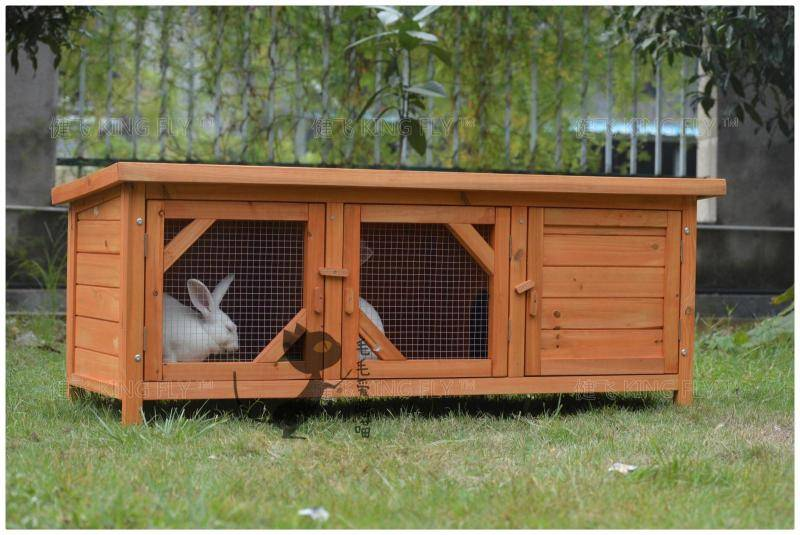 Rabbit wooden cage