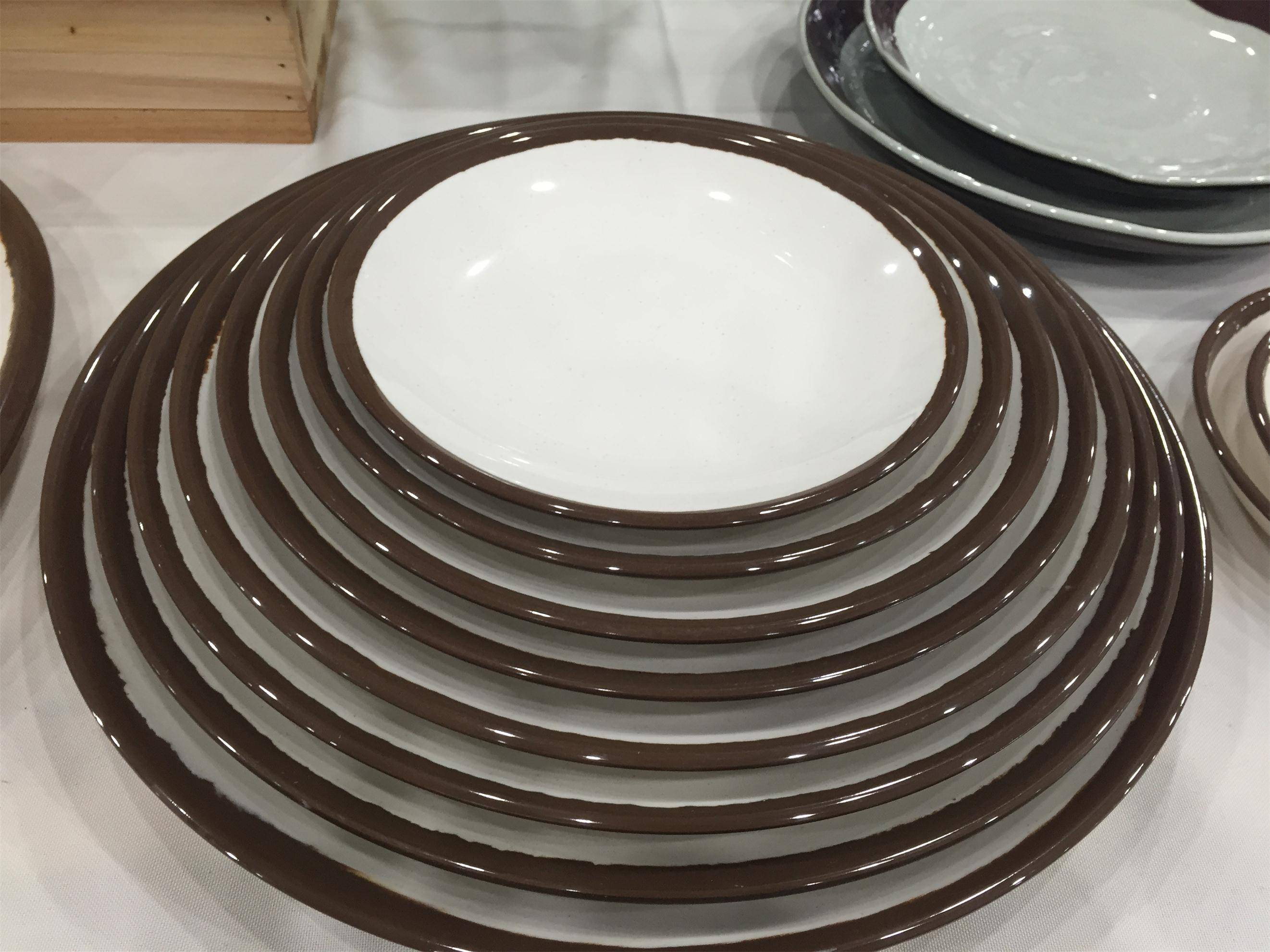 hot sale high quality roud plate melamine plate with various of demension