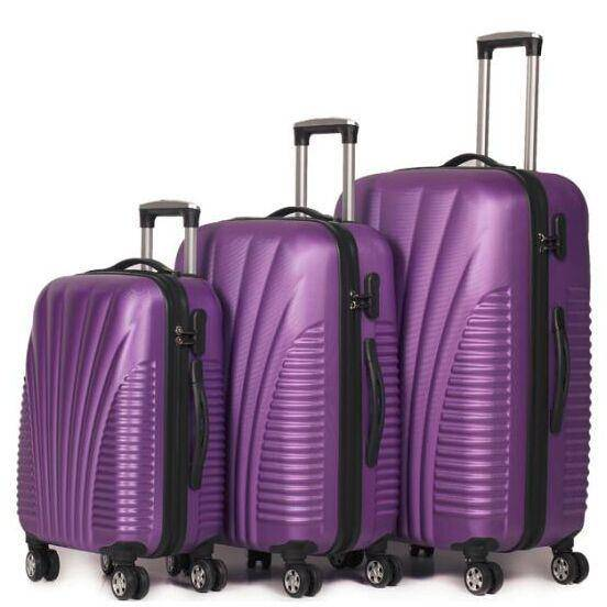 3piece ABS hard case trolley luggage protective suitcase