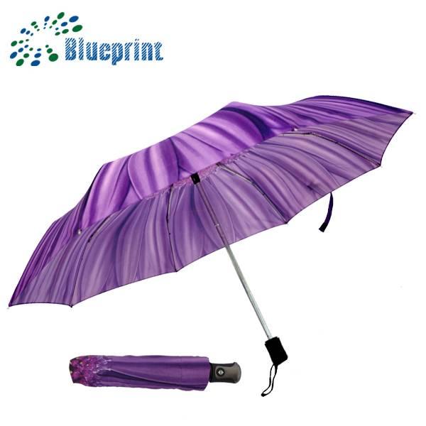 violet sunflower promotional 3 folding umbrella