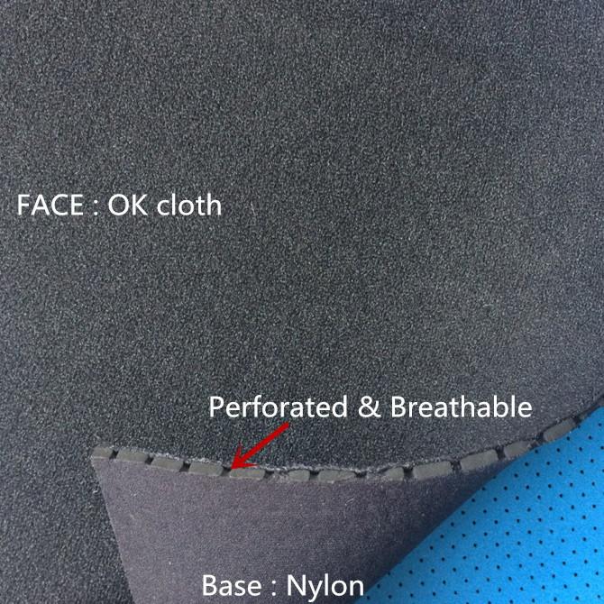 ok neoprene fabric Nylong perforated neoprene breathable punching circular hole glove buckle sticky