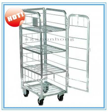 Metal auto packer fitted milk carts roll container