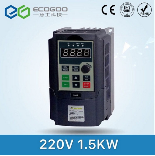 220V 1.5KW Single Phase input and 220V 3 Phase Output Frequency Converter / Adjustable Speed Drive