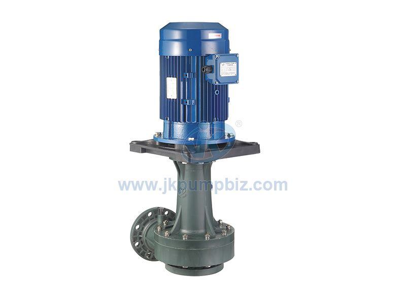 Acidic chemical vertical pump