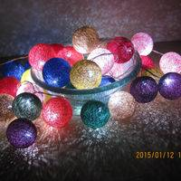 Led String Lights,Rainbow Cotton Ball Lights,Battery Copper Wire String Lights
