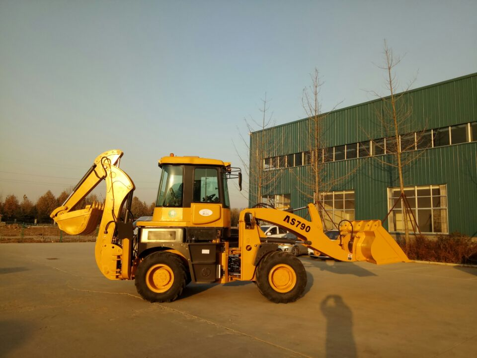 AS790 Chinese Pivot Center Backhoe wheel loader