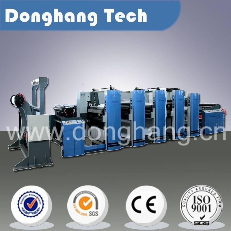 High speed medium web flexo printing machine