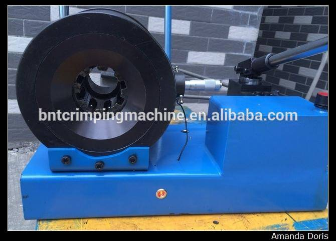 """1/4"""" 1"""" BNT25S small portable rubber hydraulic hose crimping machine manual"""