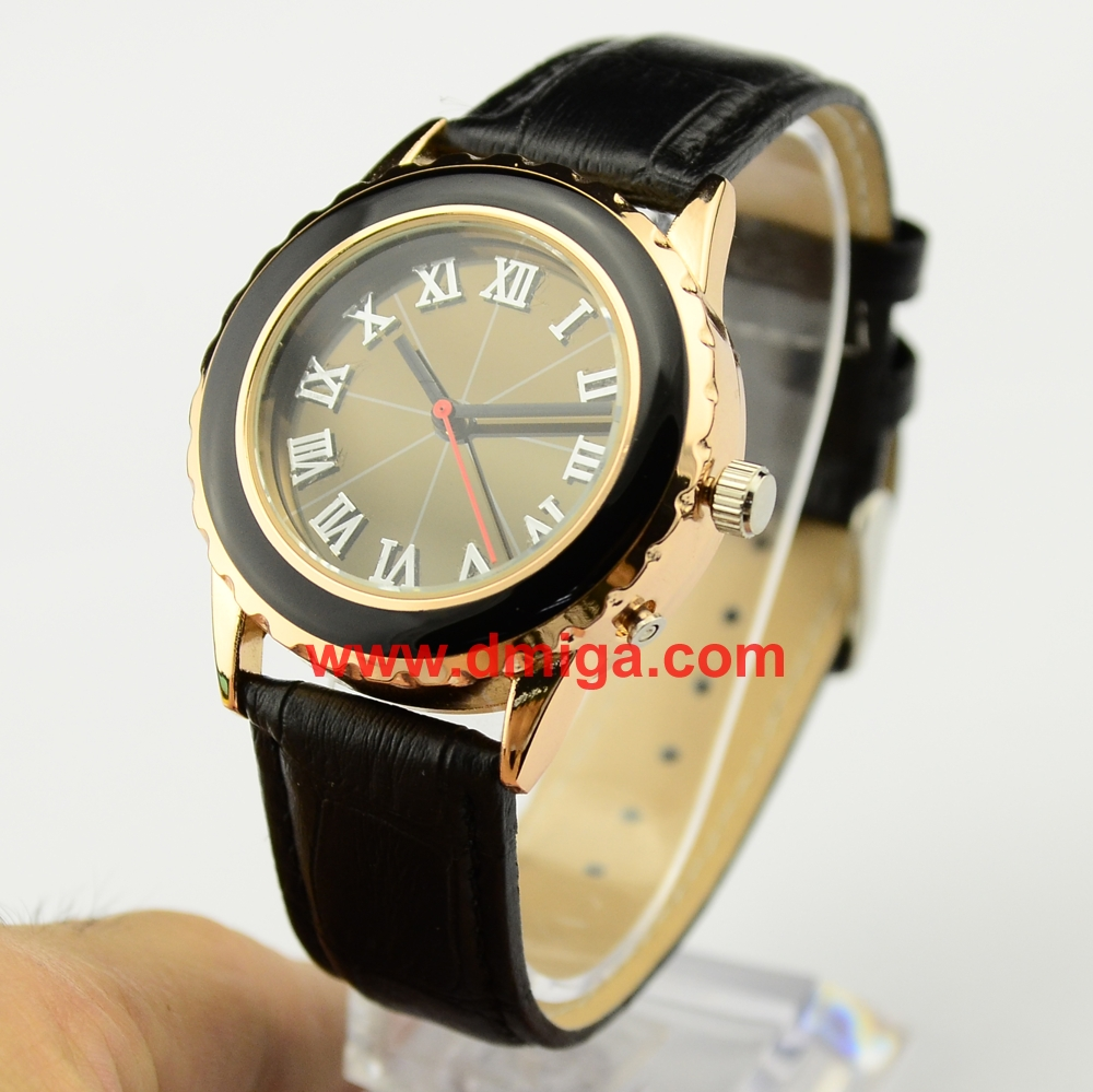 gold solar radio controlled watch