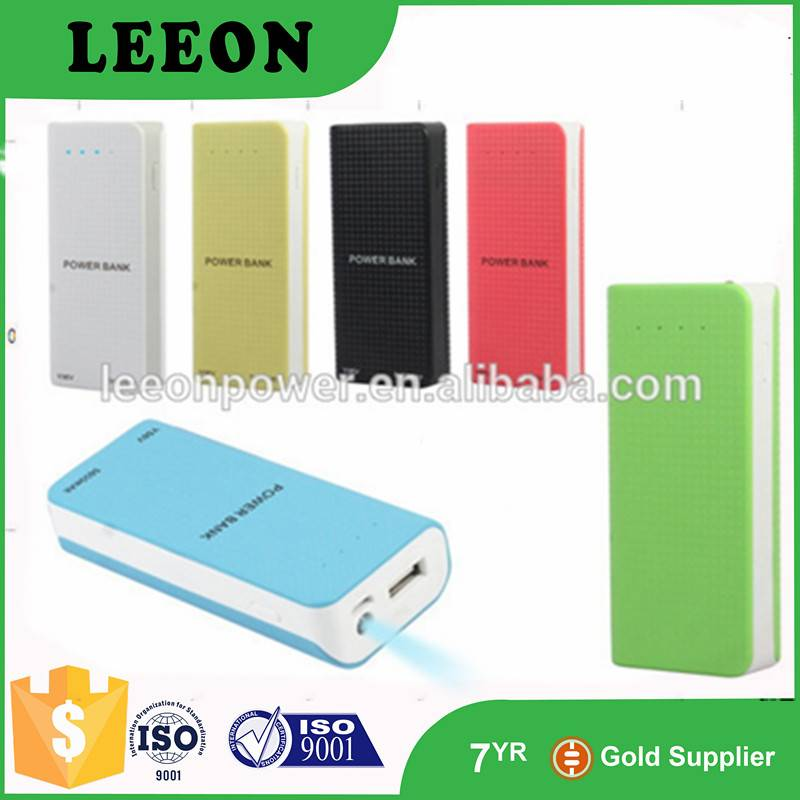 Wholesale slim colorful power charger portable power bank 5200mah
