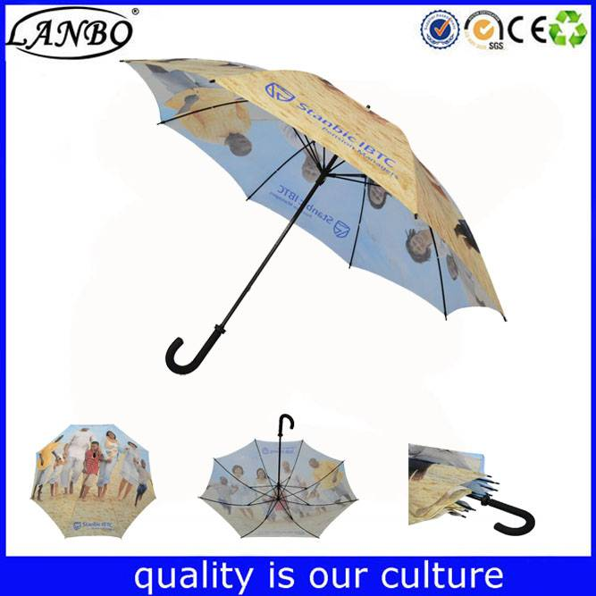 Good looking Auto Open Straight Cheap Custom Print Advertising Umbrella