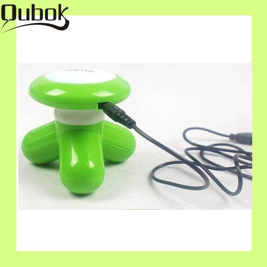 Portable body massage machine with batteries
