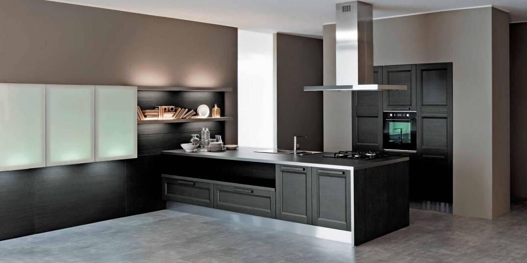 2015 Welbom Dark Grey Solid Wooden Kitchen Cabinet for Personal