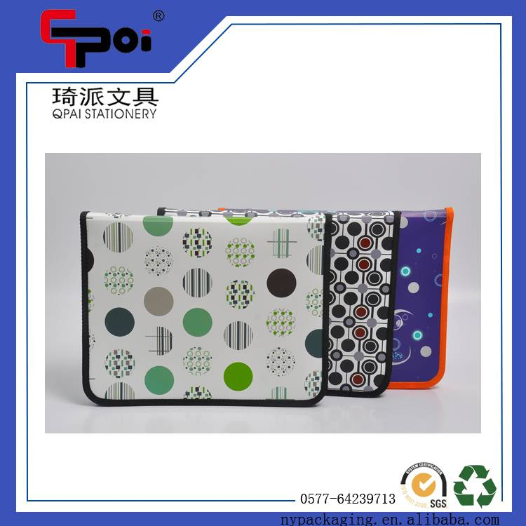 Wholesale Customized PP A4 File With Zipper Lever Arch File Folders Ring Binder Bag Zipper Bag