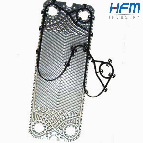 Plate heat exchanger spare parts, titanium plate with epdm gasket