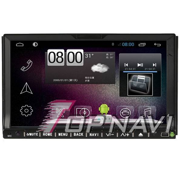 800*480 7inch Android 4.4 Car DVD Player Video For Universal GPS Navigation Wifi