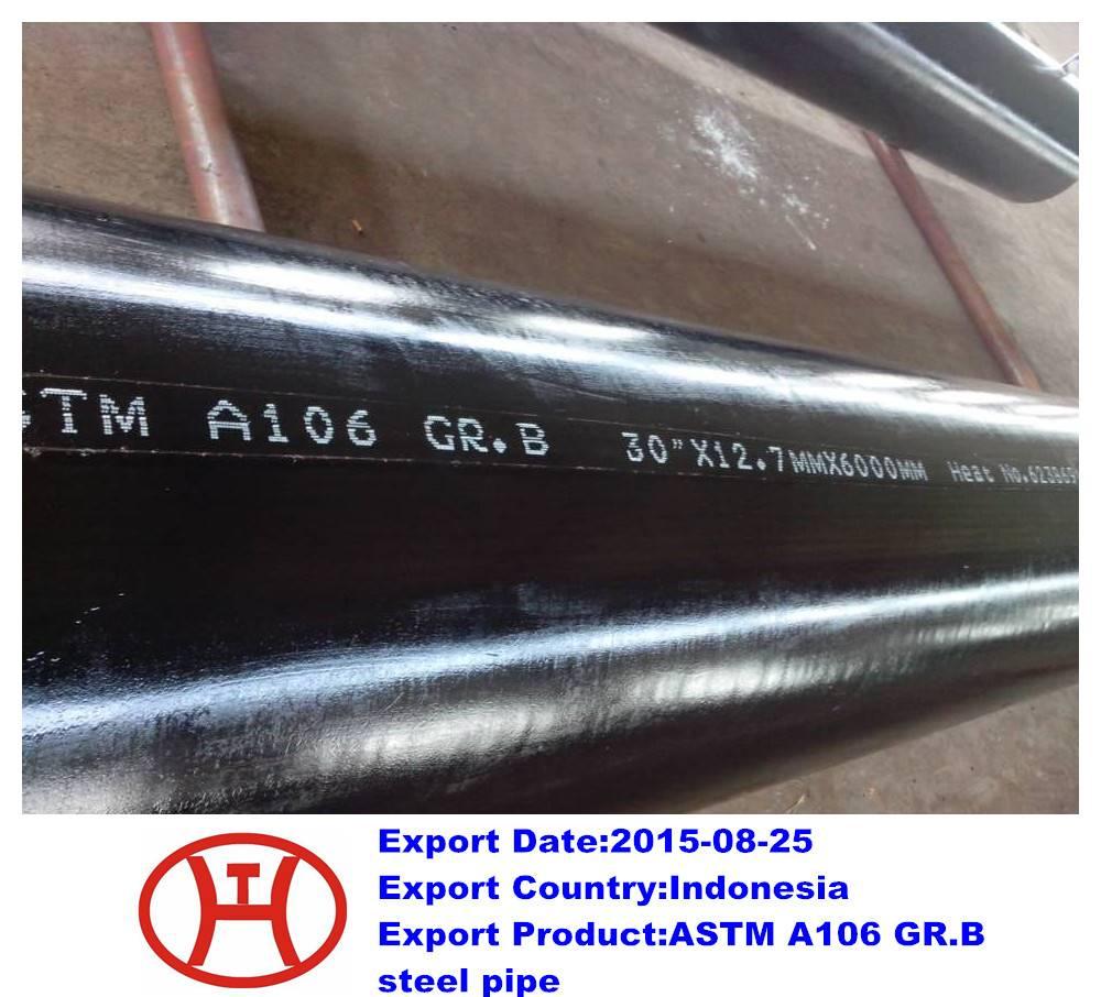 ASTM A106 GR.B steel pipe
