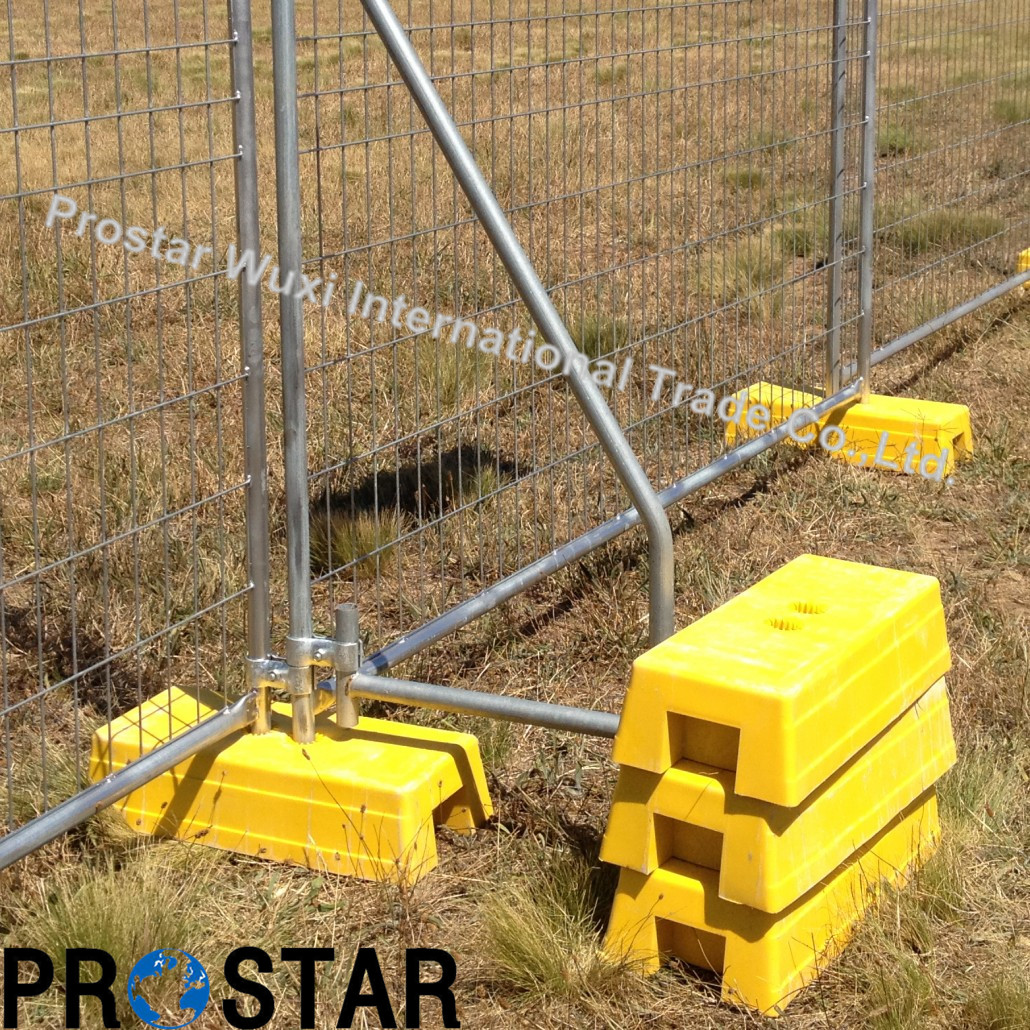Withstand Australian Weather Condition Temporary Fence with Orange Blowmould Feet