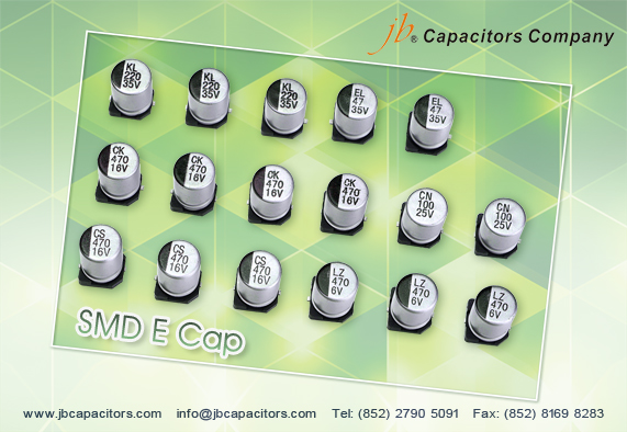 JCD - 2000H at 105°C, Low Impedance SMD Aluminum Electrolytic Capacitor