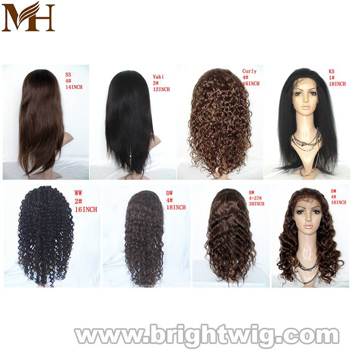 remy hair wig/lace wig/mono wig