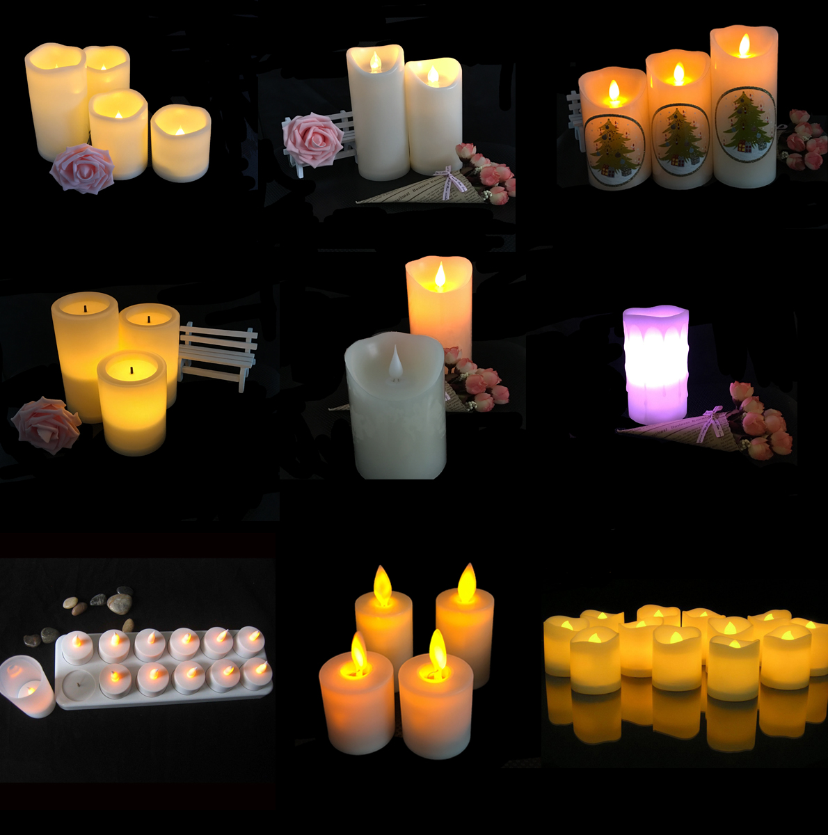Flameless 3D LED Candles for Parties and Weddings Romantic LED Flashing Candles
