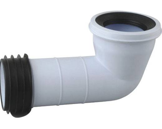 WC Connector, Made of Plastic, Used for Waste and Soil Pipes