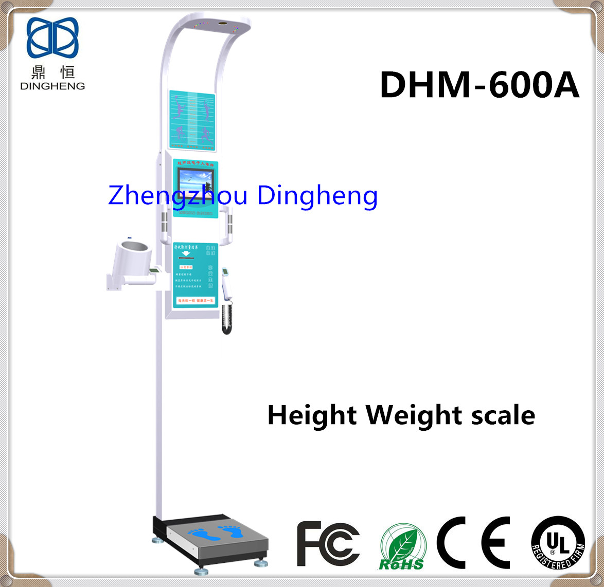 DHM-600A Multi-function ultrasonic weight and height scale with touch LCD screen