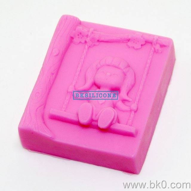 Swing Girl Chocolate Molds Cake Mold Cooky Mould Silicone Soap Muolds AA017