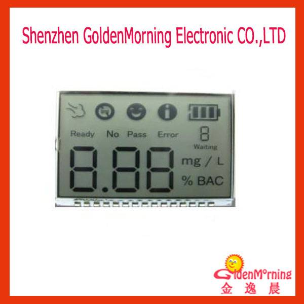 7-segment Custom LCD Display Module, TN Positive