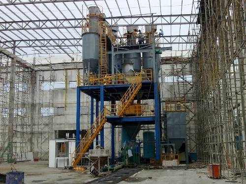 self leveling mortar production line