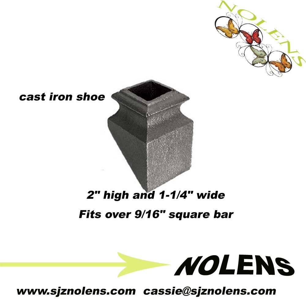 "Cast Iron Base Shoe for 9/16"" Square Bar"